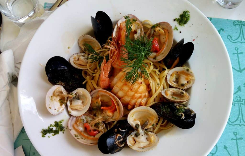 Greek Seafood Pasta