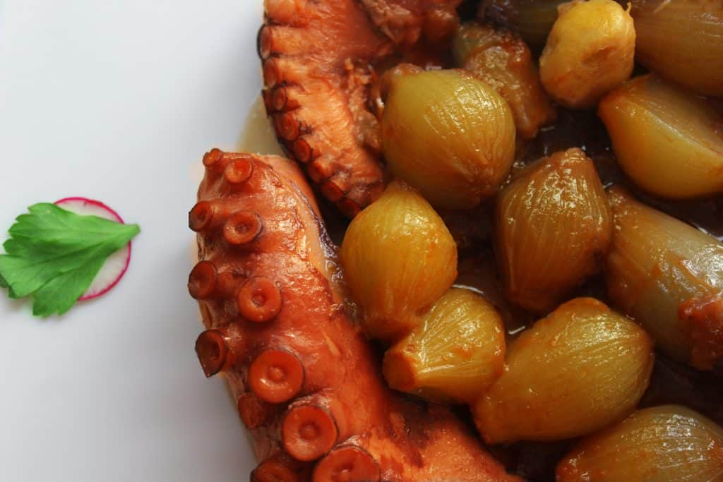 OCTOPUS WITH ONION STEW