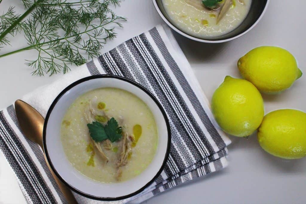 egg lemon chicken soup