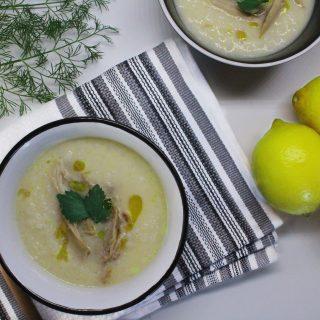 egg lemon chicken soup