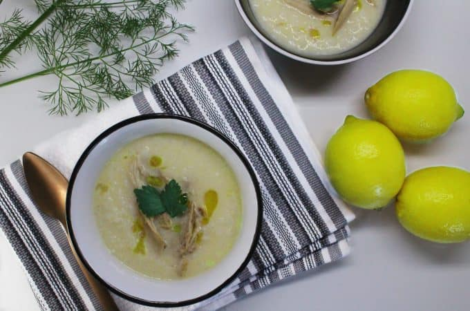 TRADITIONAL CHICKEN SOUP WITH EGG-LEMON SAUCE (AVGOLEMONO)