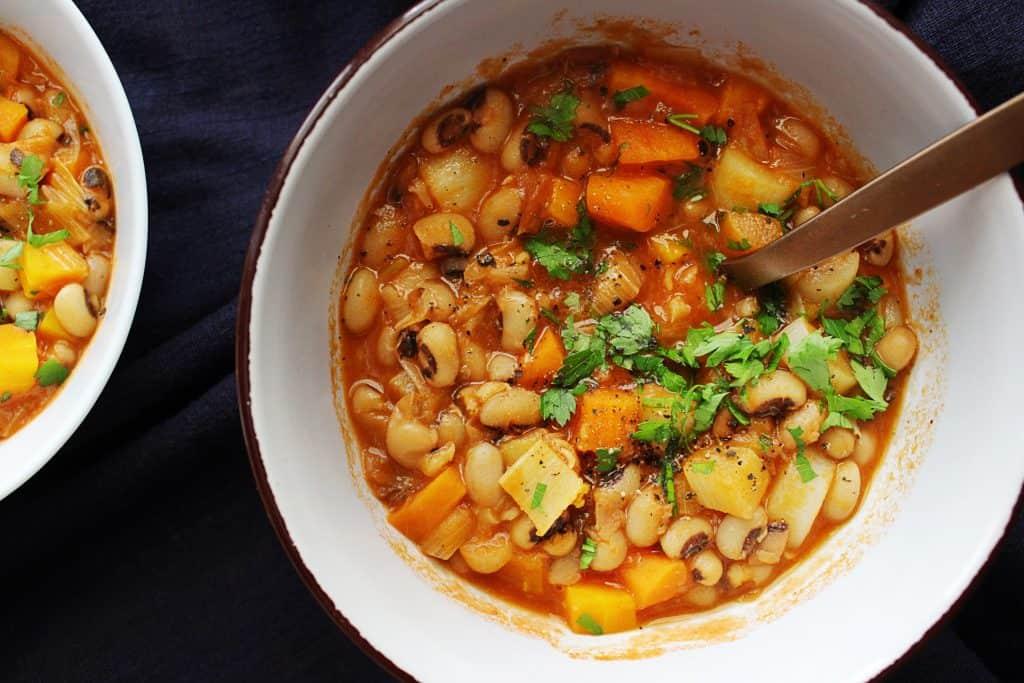 Mediterranean black eyed peas bowls
