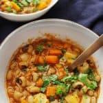 Mediterranean black eyed peas stew vertical