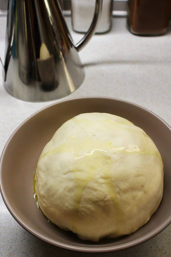 Mediterranean olive oil flatbread dough