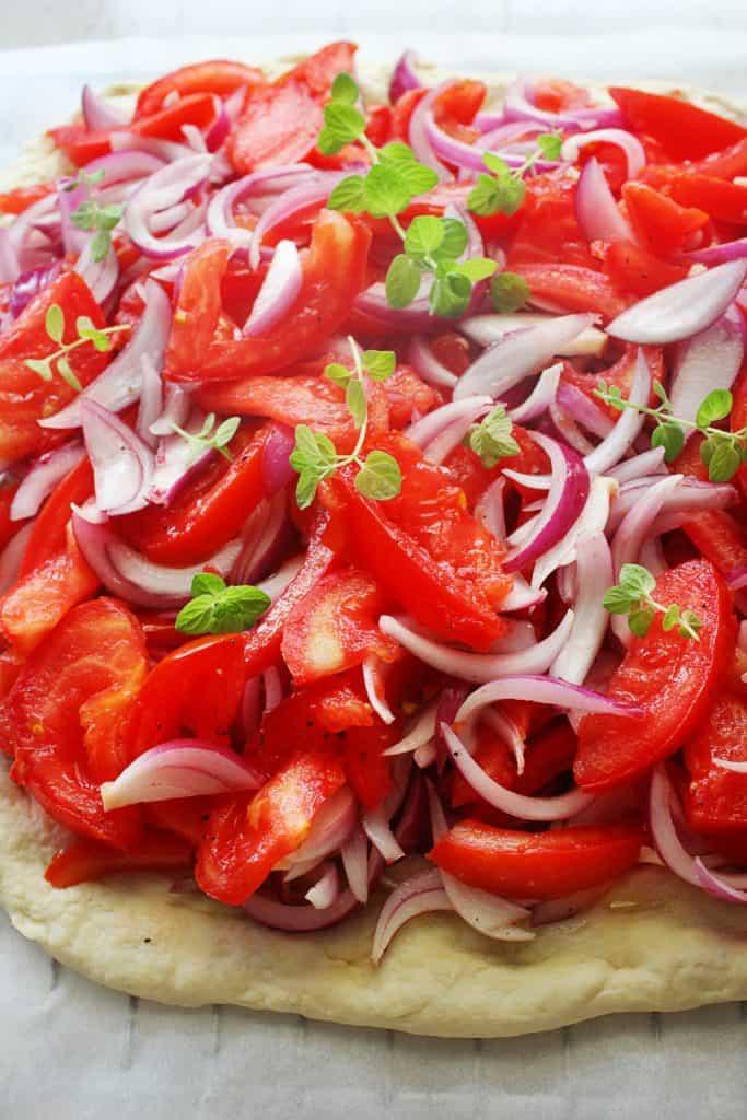 ladenia mediterranean vegan olive oil flatbread