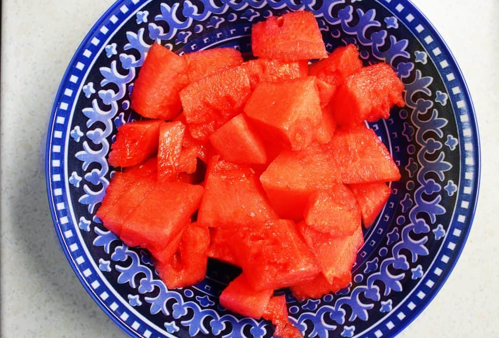 watermelon in a bowl