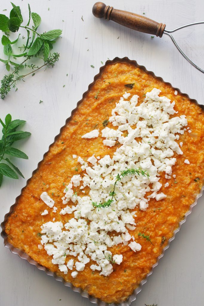 greek savory pumpkin pie with feta www.30daysofgreekfood.com