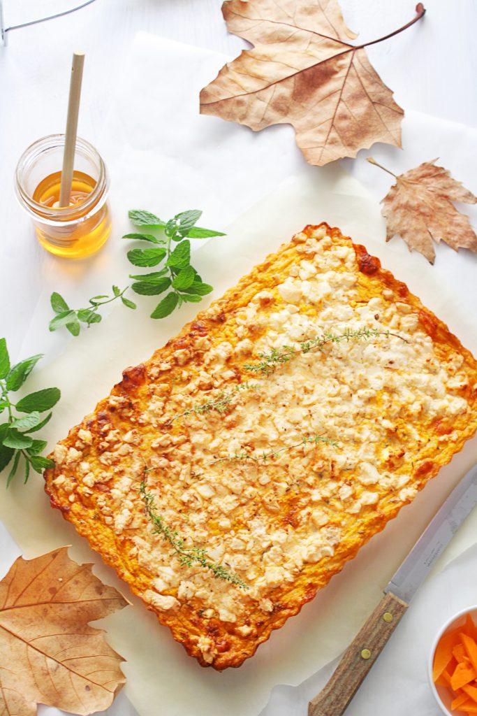 mediterranean savory pumpkin pie with feta www.30daysofgreekfood.com