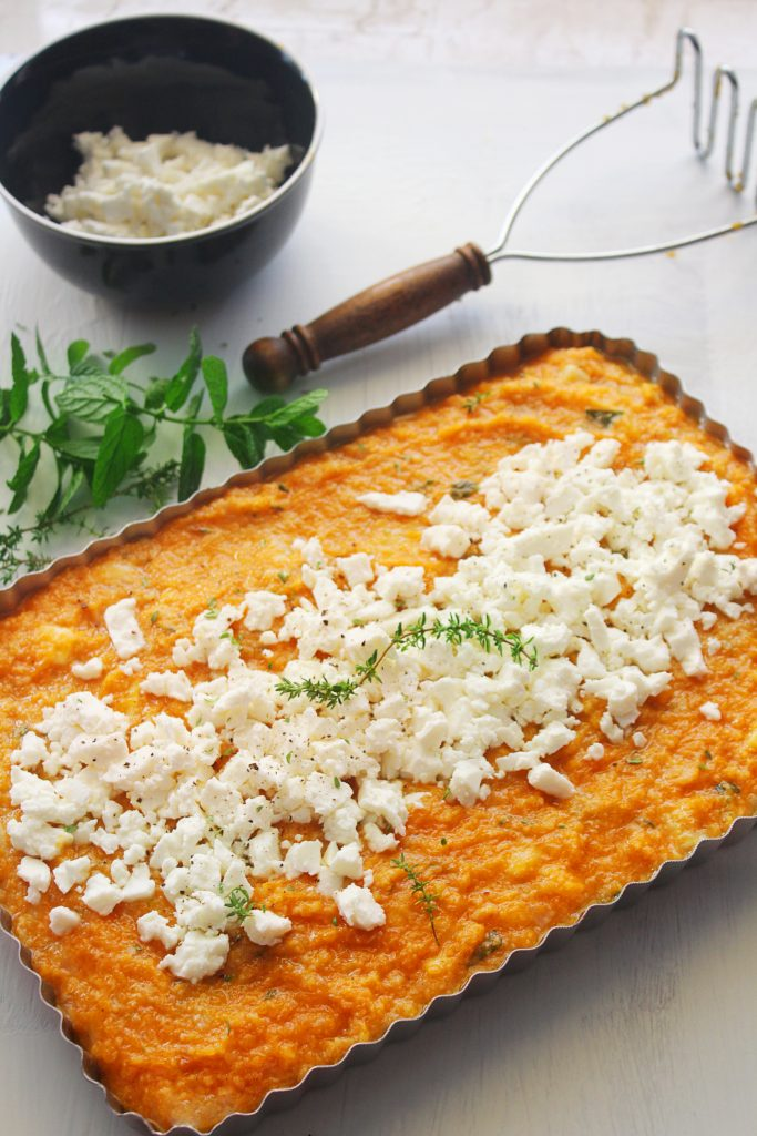 savory pumpkin pie with feta www.30daysofgreekfood.com