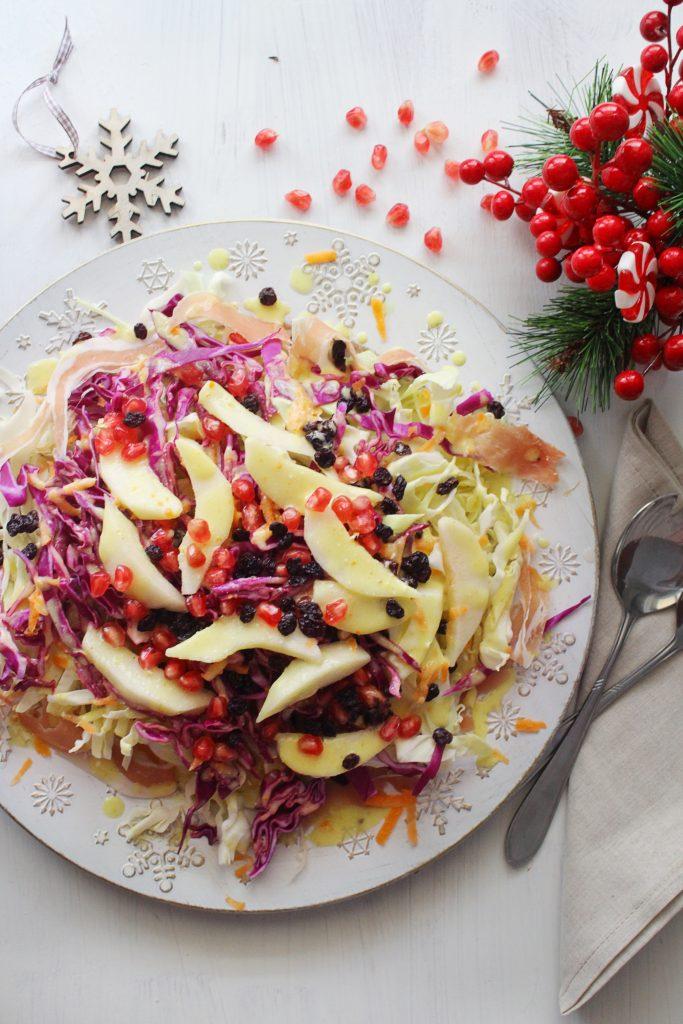 Cabbage Pear Mediterranean Salad 30daysofgreekfood