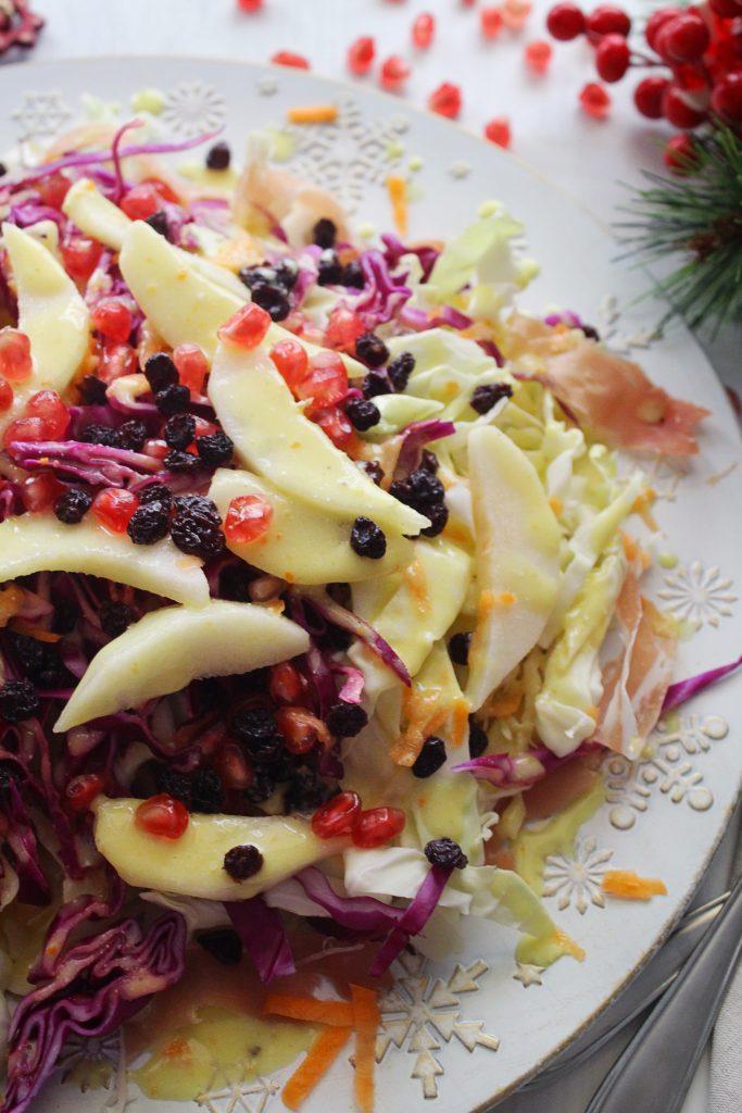 Cabbage Pear Mediterranean Salad