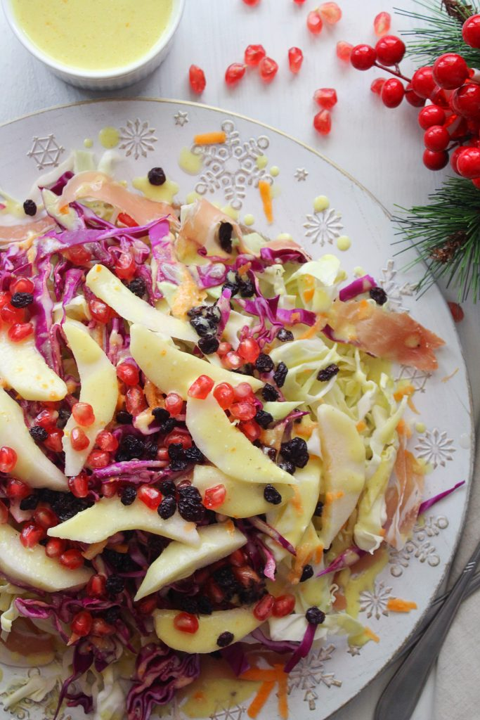 Cabbage Pear Mediterranean Salad main