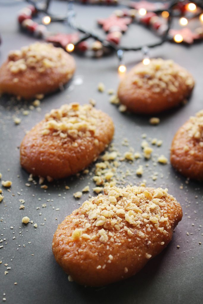 Greek Honey Cookie pieces 30daysofgreekfood