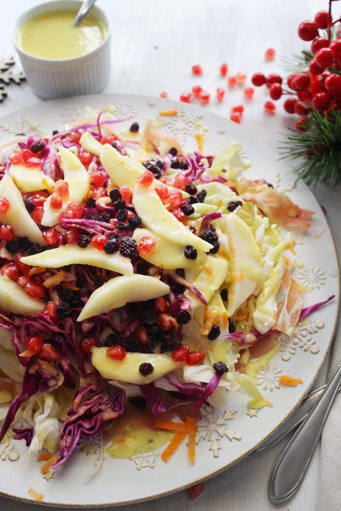 Mediterranean Cabbage Pear Salad