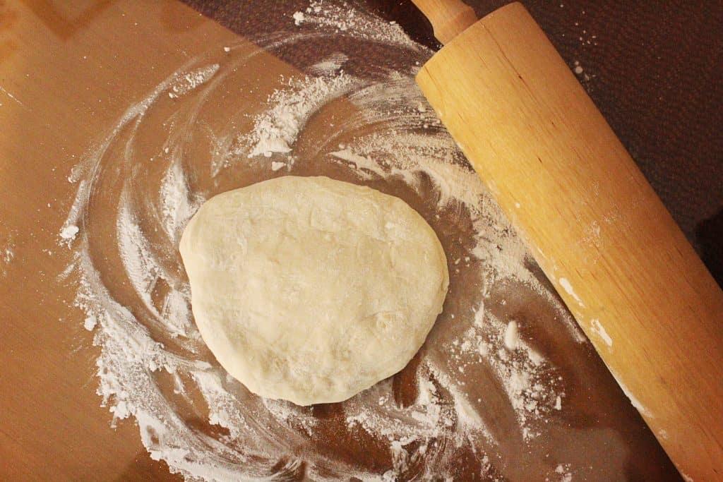 Traditional Greek Spinach Pie homemade dough