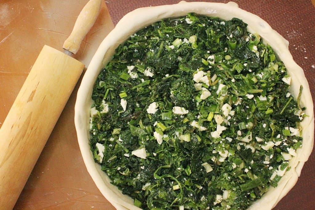 Traditional Greek Spinach Pie homemade pie