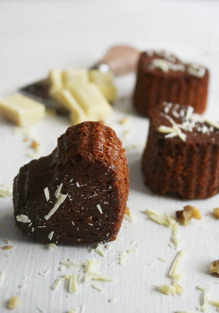 Greek walnut heart shaped muffins