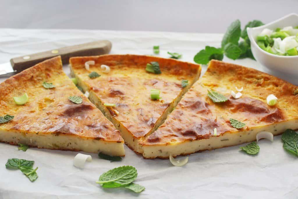Mediterrannean Flat Greek Flour Pie horizontal pieces