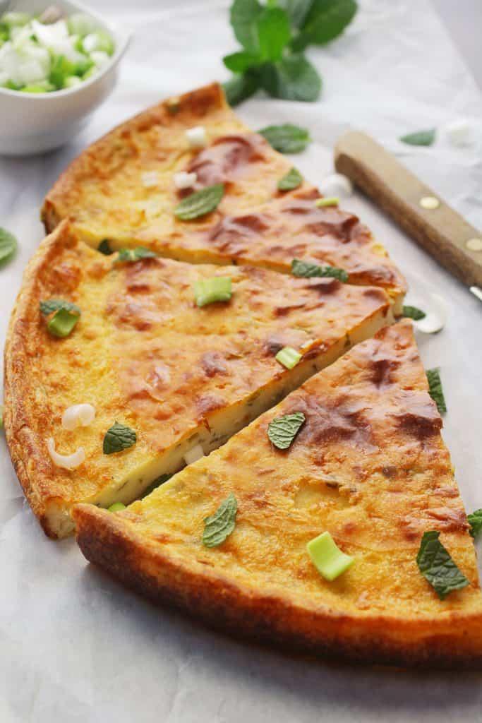 Mediterrannean Greek Flat Flour Pie pieces
