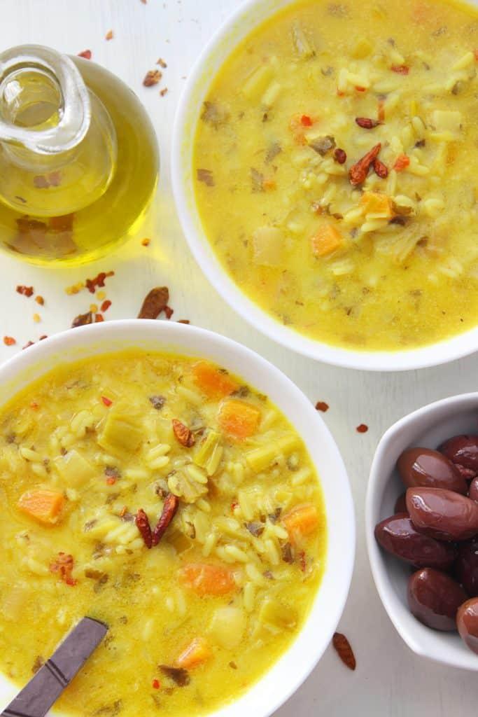 Mediterranean Rice Stew two plates