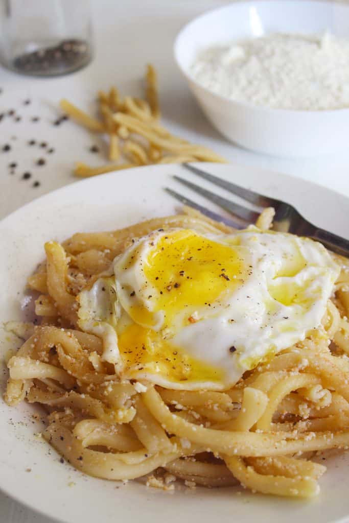 TRADITIONAL GREEK PASTA WITH MIZITHRA CHEESE AND EGG