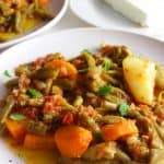 Braised Greek Green Beans #mediterraneanfood #mediterraneanrecipe