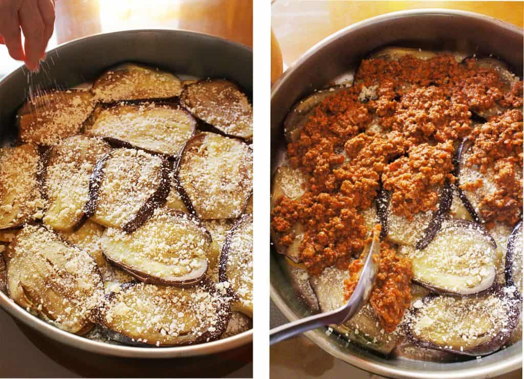 Authentic Greek eggplant moussaka