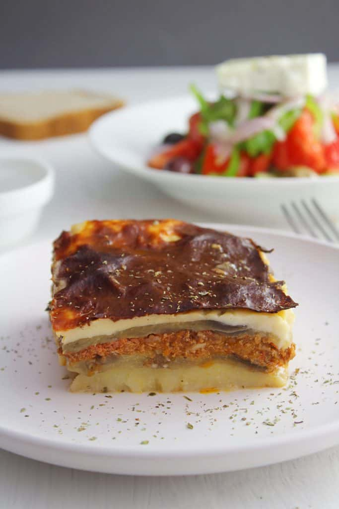 Greek eggplant moussaka