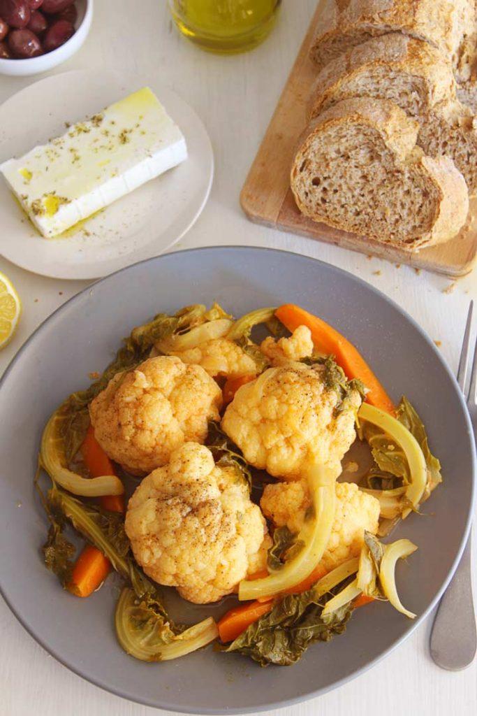 Greek Braised Cauliflower