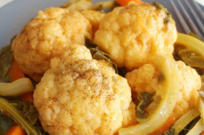 Greek Braised Cauliflower