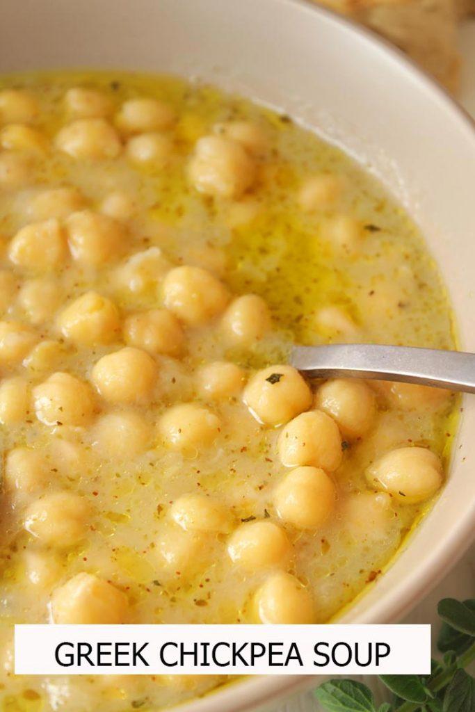 Chichickpea soup with oregano