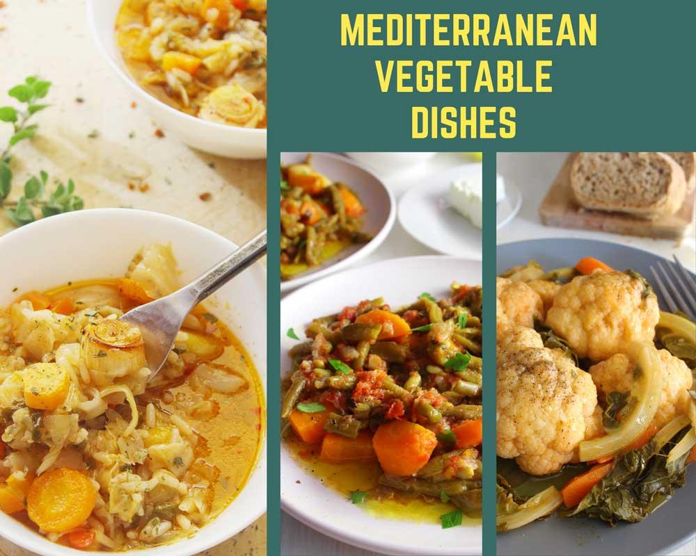 Mediterranean vegetable dishes