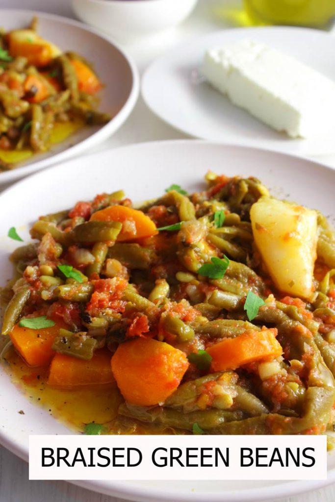 Greek braised beans