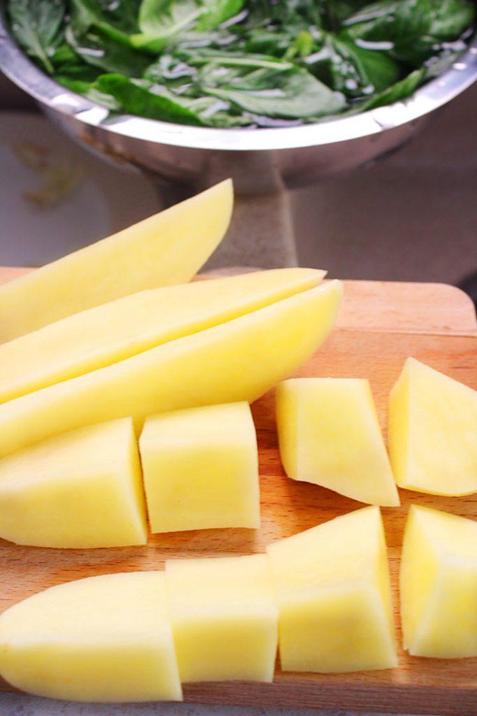 Potato cubed