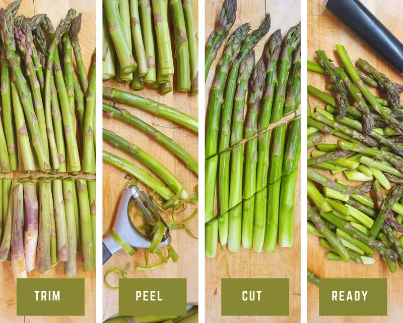 How to prepare asparagus photo collage