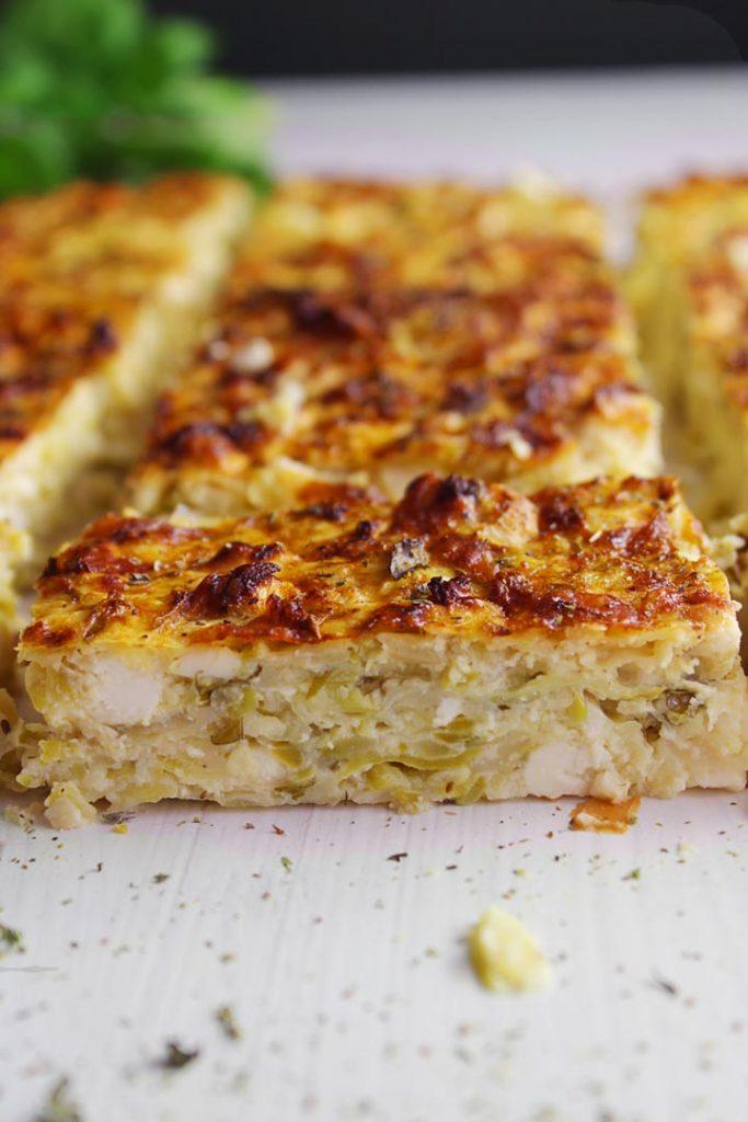 A piece of Greek zucchini pie