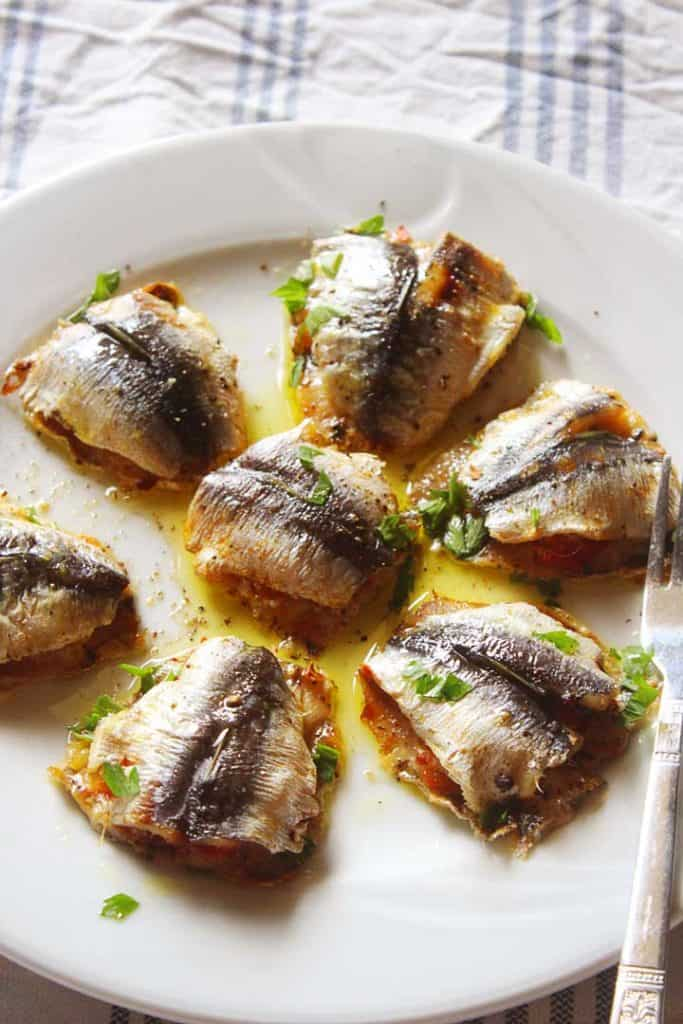 Greek stuffed sardines