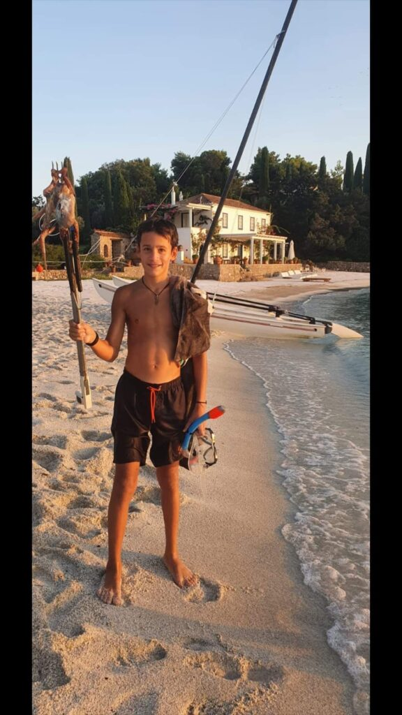 boy with octopus catch